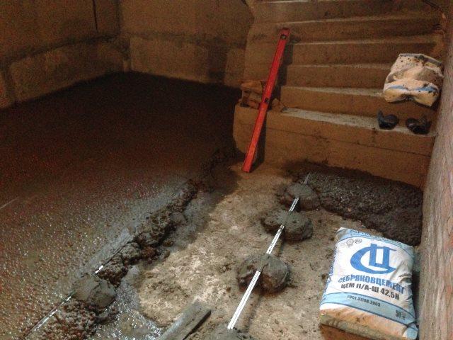 Керамзито-бетонная стяжка