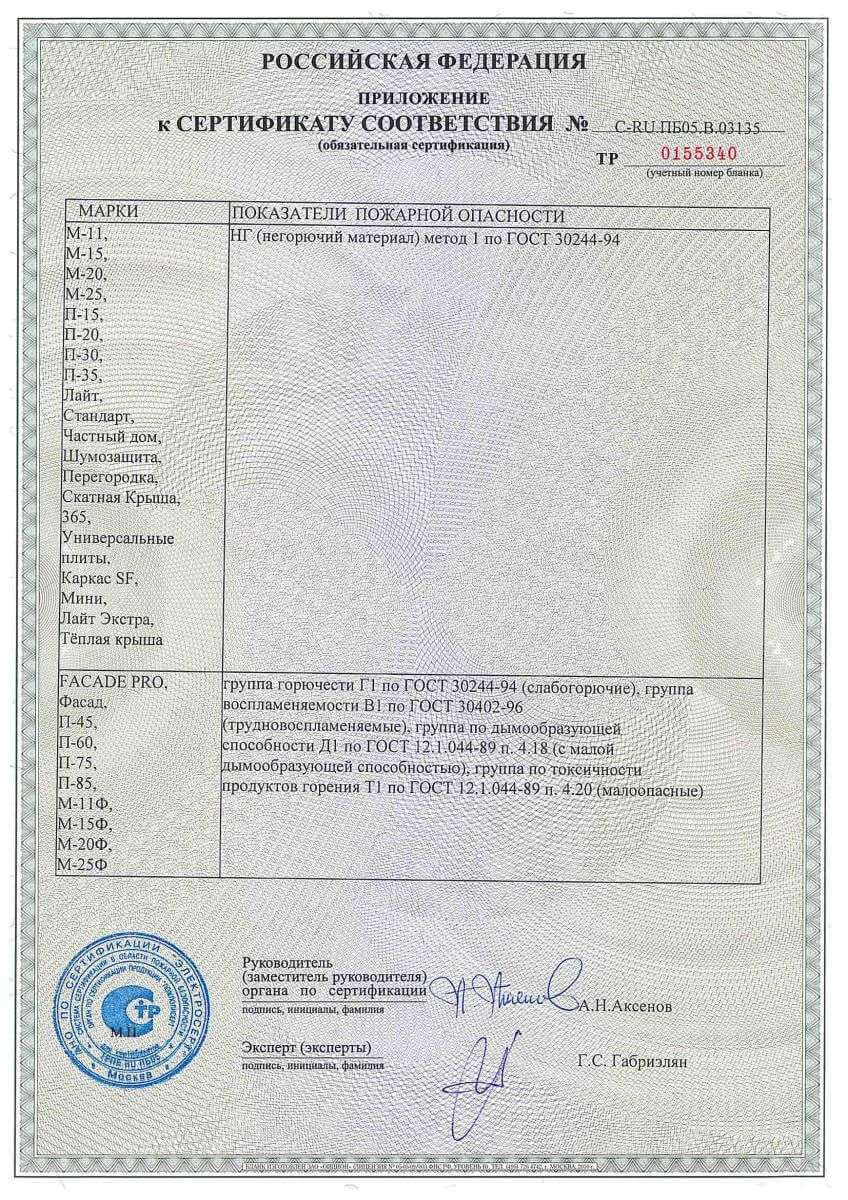 Урса пожарный сертификат стр.2