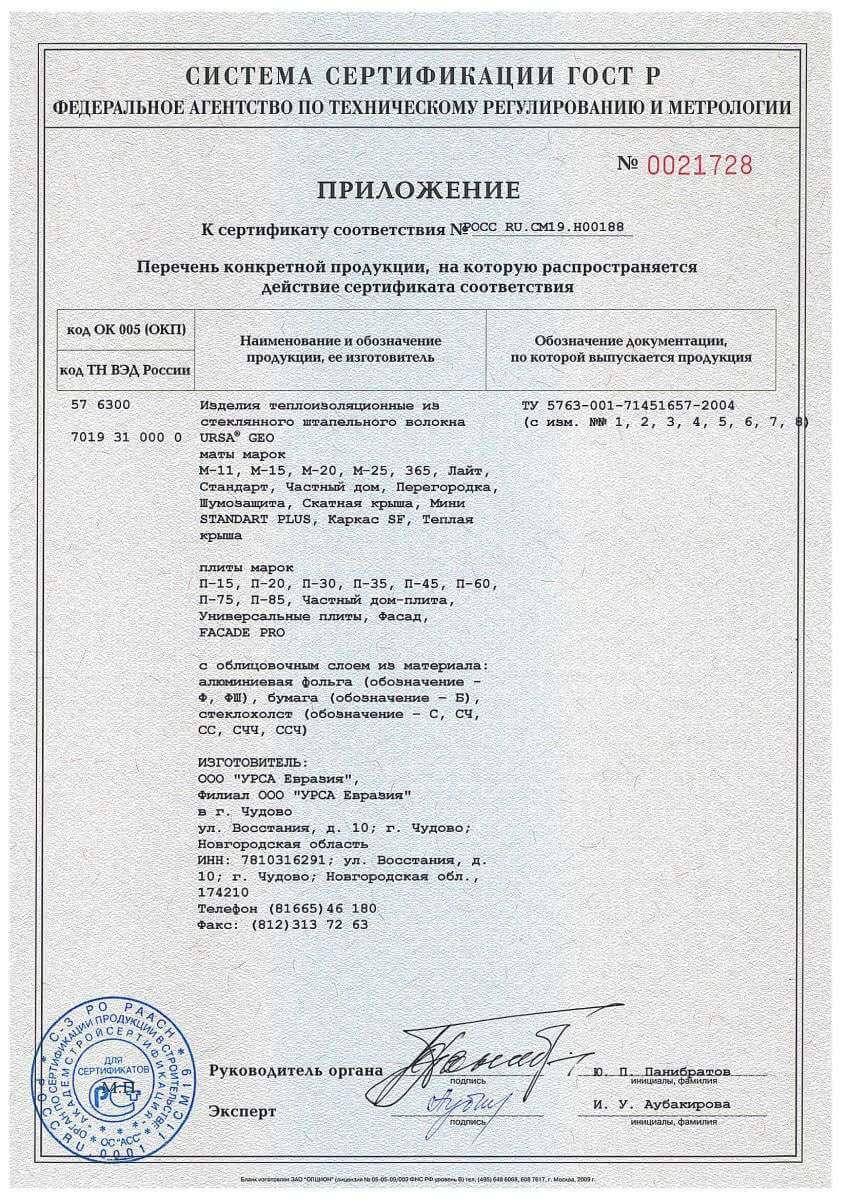 Урса сертификат соответствия стр.2